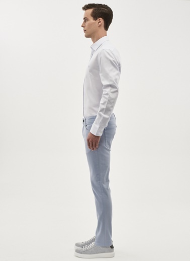Altınyıldız Classics 360 Derece Her Yöne Esneyen Rahat Slim Fit Pantolon 4A0118200002 Mavi